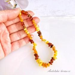 Jantarový náhrdelník (ochrana) Dětský