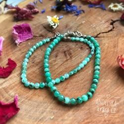 Náramek pravý Smaragd