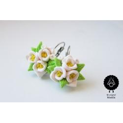 Boho svatební náušnice, květinky