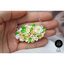 Ocelový svatební Boho náhrdelník