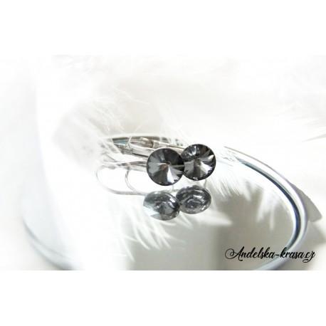 Swarovski andělské náušnice - duha