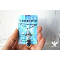 """Náhrdelník """"Anděl plodnosti - modro-fialový"""""""