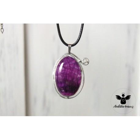 """Cínovaný náhrdelník """"Labradorit"""""""