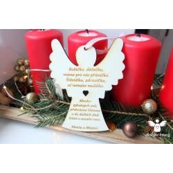 Anděl pro babičku a dědu s věnováním