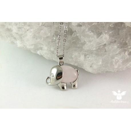 """Náhrdelník slon pro štěstí """"Růženín"""""""