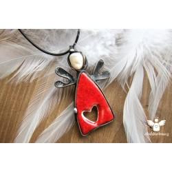 """Náhrdelník """"Anděl lásky"""" Valentýnek"""