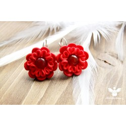Valentýnky s karneolem - ocelové