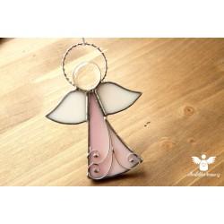 Anděl vitráž lásky 10cm