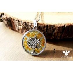 Orgonitový náhrdelník ocel Ochrana jantaru