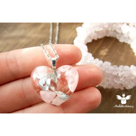 """Orgonitový náhrdelník """"Láska"""" ocel"""