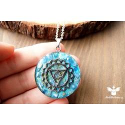 Orgonitový náhrdelník ocel 5. čakra