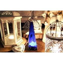 Anděl vitráž svícen - velký modrý