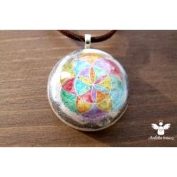 Náhrdelník květ života čakrový