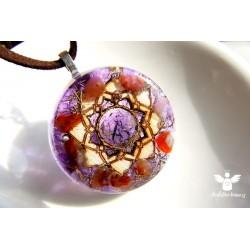 Náhrdelník Lotosový květ 7.čakra Spiritualita, vědomí, klid