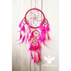 Lapač snů - neon růžový VELKÝ