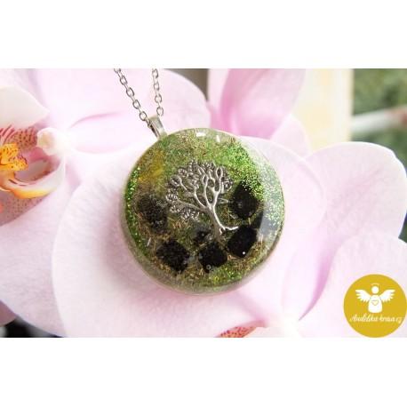 Strom života citrín onyx jantar