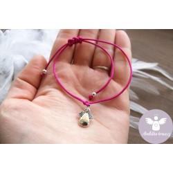 Náramek Anděl Ochrana - Růžový 4.čakra
