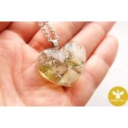 Orgonitové srdíčko náhrdelník Štěstí Detox