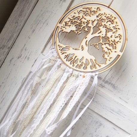 Lapač Strom Života Růžový obdisidán Křišťál 4čakra
