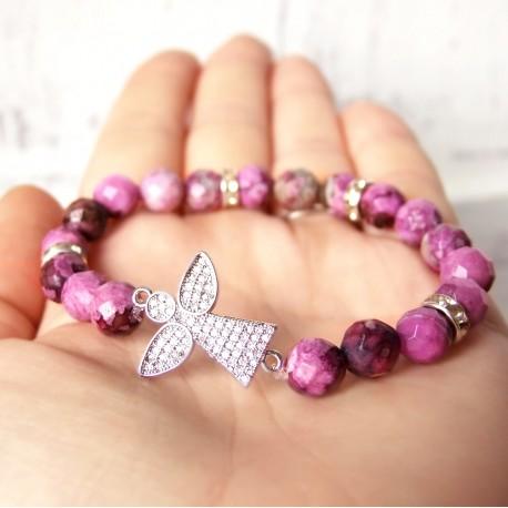 Náramek LIMITED Anděl Crystal rose mineral