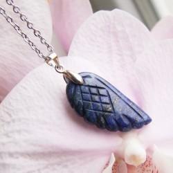 Náhrdelník ocel andělské křídlo Lapis Lazuli