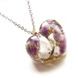 Orgonitový náhrdelník srdce Duchovno Klid Meditace