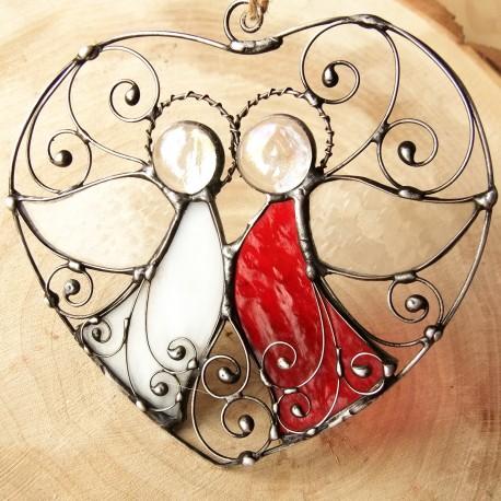 Andělská vitráž Láska Vztahy