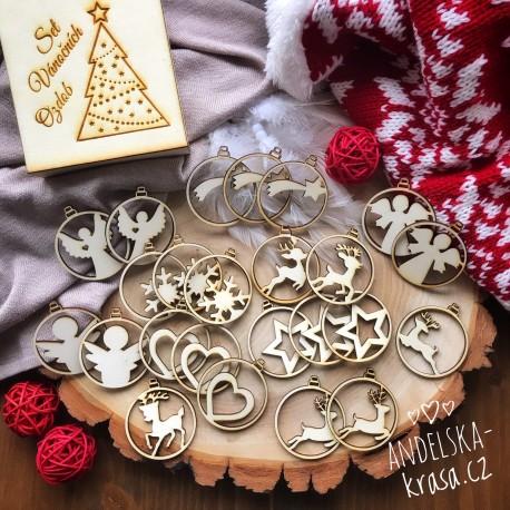 Kolekce vánočních ozdobiček - kouličky