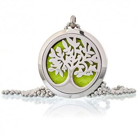 Aroma éterický náhrdelník Strom života ocel