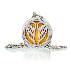 Aroma éterický náhrdelník Andělská křídla ocel
