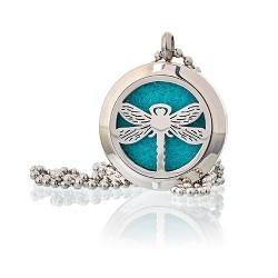 Aroma éterický náhrdelník Vážka ocel