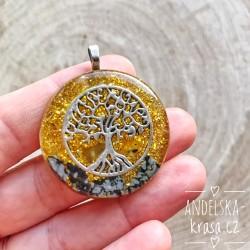 Orgonitový náhrdelník Sebedůvěra Klid Ochrana