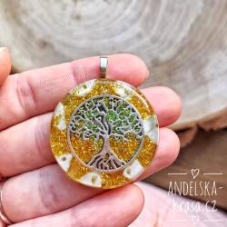 """Orgonitový náhrdelník """"Hojnost"""" (strom života)"""