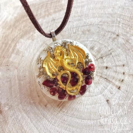 Orgonitový náhrdelník Ochrana Síla Štěstí