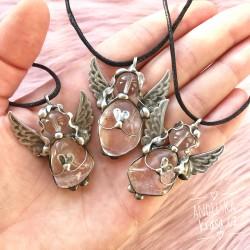 Náhrdelník Anděl Křišťál 7.čakra Ochrana