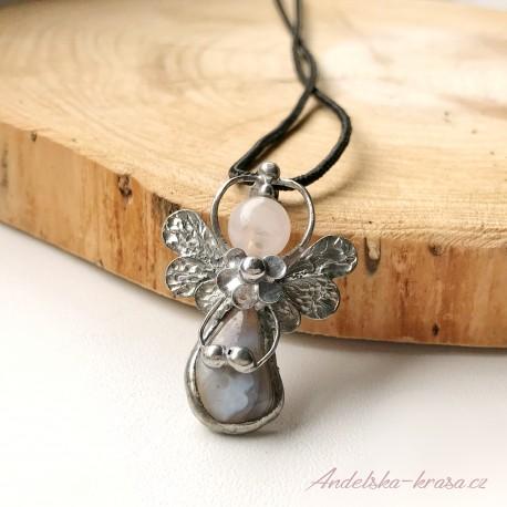 Náhrdelník anděl Uvedu Tě v rovnováhu