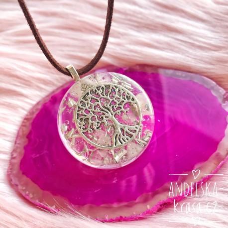 Orgonitový náhrdelník Ochrana aury Křišťál