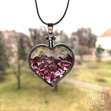 Náhrdelník Srdce Granát Regenerace