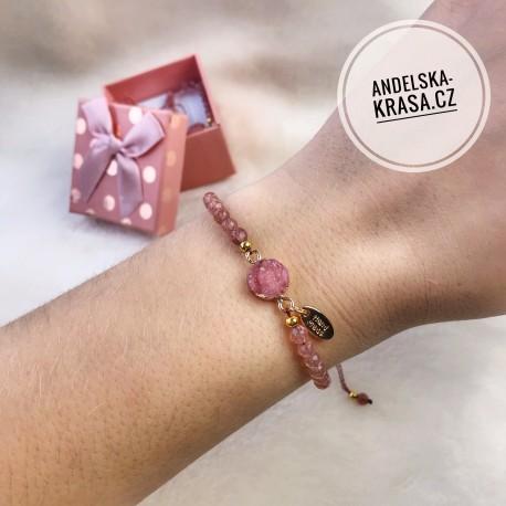 Náramek Pink luxury