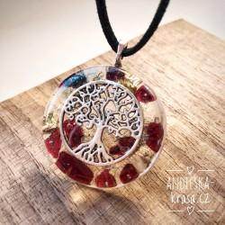Orgonitový náhrdelník granát Blahobyt