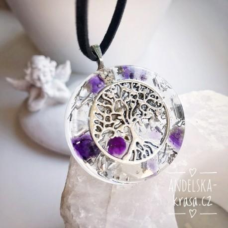 Orgonitový náhrdelník rovnováha očista