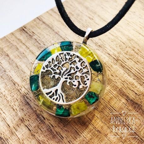 Strom života avanturín malachit jadeit