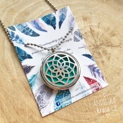 Aroma éterický náhrdelník Mandala ocel