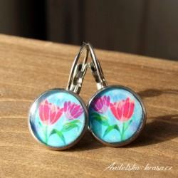 Náušnice ocelové tulipány