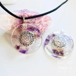 Orgonitový náhrdelník Uvolnění Óm