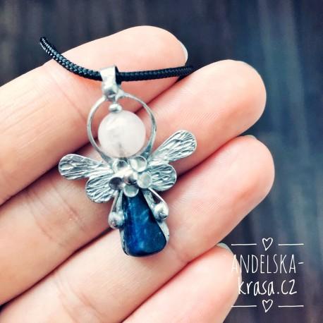 Náhrdelník Anděl Lapis Lazuli Komunikace Odvaha
