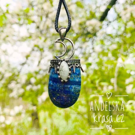 Náhrdelník Uvolnění Lapis Lazuli