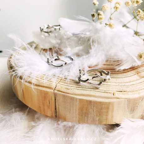 Stříbrný prsten Větvičky