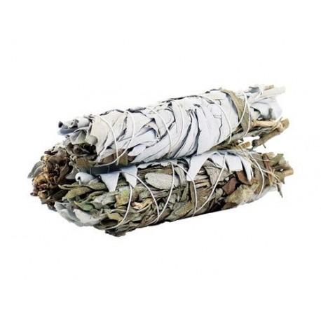Vykuřovací Svazek - Šalvěj Bílá a černá 10 cm