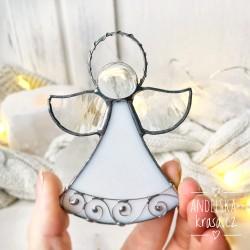 Anděl vitráž Ochánce domova